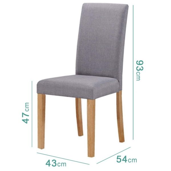 New Town Flip Top Grey/Natural Dining Set with 4 Chairs in Grey Fabric